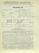 Popis prebivalstva 31. 3. 1931<br />Ljubljana<br />Aljaževa cesta 11<br />Population census 31 March 1931