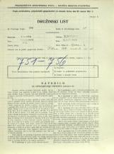 Popis prebivalstva 31. 3. 1931<br />Ljubljana<br />Aljaževa cesta 12<br />Population census 31 March 1931
