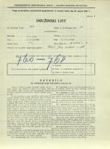 Popis prebivalstva 31. 3. 1931<br />Ljubljana<br />Aljaževa cesta 13<br />Population census 31 March 1931