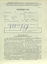 Popis prebivalstva 31. 3. 1931<br />Ljubljana<br />Aljaževa cesta 14<br />Population census 31 March 1931
