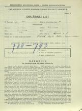 Popis prebivalstva 31. 3. 1931<br />Ljubljana<br />Aljaževa cesta 15<br />Population census 31 March 1931