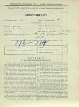 Popis prebivalstva 31. 3. 1931<br />Ljubljana<br />Aljaževa cesta 39<br />Population census 31 March 1931