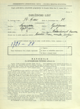 Popis prebivalstva 31. 3. 1931<br />Ljubljana<br />Aškerčeva ulica 2<br />Population census 31 March 1931