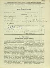 Popis prebivalstva 31. 3. 1931<br />Ljubljana<br />Ažbetova ulica 1<br />Population census 31 March 1931
