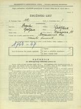 Popis prebivalstva 31. 3. 1931<br />Ljubljana<br />Baragova ulica 10<br />Population census 31 March 1931