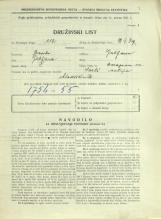 Popis prebivalstva 31. 3. 1931<br />Ljubljana<br />Baragova ulica 12<br />Population census 31 March 1931