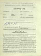 Popis prebivalstva 31. 3. 1931<br />Ljubljana<br />Barvarska steza 6<br />Population census 31 March 1931