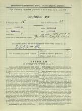 Popis prebivalstva 31. 3. 1931<br />Ljubljana<br />Bežigrad 15<br />Population census 31 March 1931