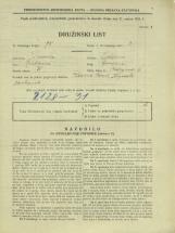 Popis prebivalstva 31. 3. 1931<br />Ljubljana<br />Bežigrad 6<br />Population census 31 March 1931