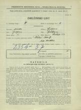 Popis prebivalstva 31. 3. 1931<br />Ljubljana<br />Bičevje 22<br />Population census 31 March 1931