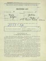 Popis prebivalstva 31. 3. 1931<br />Ljubljana<br />Bičevje 6<br />Population census 31 March 1931