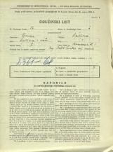 Popis prebivalstva 31. 3. 1931<br />Ljubljana<br />Bleiweisova cesta 1<br />Population census 31 March 1931