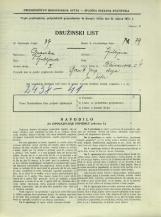 Popis prebivalstva 31. 3. 1931<br />Ljubljana<br />Bleiweisova cesta 4<br />Population census 31 March 1931