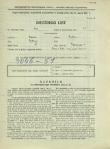 Popis prebivalstva 31. 3. 1931<br />Ljubljana<br />Bohoričeva ulica 12<br />Population census 31 March 1931