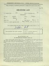 Popis prebivalstva 31. 3. 1931<br />Ljubljana<br />Bohoričeva ulica 26<br />Population census 31 March 1931
