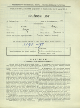 Popis prebivalstva 31. 3. 1931<br />Ljubljana<br />Bohoričeva ulica 28<br />Population census 31 March 1931