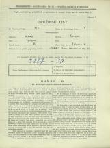Popis prebivalstva 31. 3. 1931<br />Ljubljana<br />Bohoričeva ulica 31<br />Population census 31 March 1931