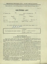 Popis prebivalstva 31. 3. 1931<br />Ljubljana<br />Bohoričeva ulica 33<br />Population census 31 March 1931