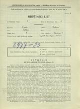 Popis prebivalstva 31. 3. 1931<br />Ljubljana<br />Bohoričeva ulica 5<br />Population census 31 March 1931