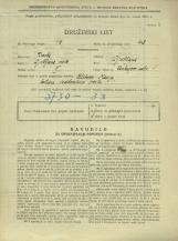 Popis prebivalstva 31. 3. 1931<br />Ljubljana<br />Cankarjevo nabrežje 1<br />Population census 31 March 1931