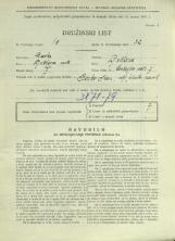 Popis prebivalstva 31. 3. 1931<br />Ljubljana<br />Cankarjevo nabrežje 7<br />Population census 31 March 1931