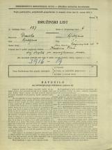 Popis prebivalstva 31. 3. 1931<br />Ljubljana<br />Cegnarjeva ulica 4<br />Population census 31 March 1931