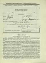 Popis prebivalstva 31. 3. 1931<br />Ljubljana<br />Cegnarjeva ulica 8<br />Population census 31 March 1931