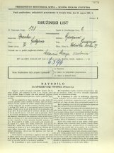 Popis prebivalstva 31. 3. 1931<br />Ljubljana<br />Celovška cesta 37<br />Population census 31 March 1931
