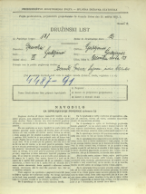 Popis prebivalstva 31. 3. 1931<br />Ljubljana<br />Celovška cesta 43<br />Population census 31 March 1931