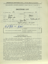 Popis prebivalstva 31. 3. 1931<br />Ljubljana<br />Celovška cesta 74<br />Population census 31 March 1931
