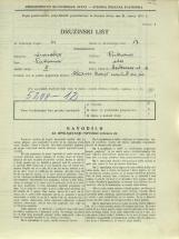 Popis prebivalstva 31. 3. 1931<br />Ljubljana<br />Cerkvena ulica 11<br />Population census 31 March 1931