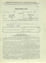 Popis prebivalstva 31. 3. 1931<br />Ljubljana<br />Cerkvena ulica 13<br />Population census 31 March 1931