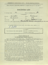 Popis prebivalstva 31. 3. 1931<br />Ljubljana<br />Cerkvena ulica 9<br />Population census 31 March 1931