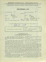Popis prebivalstva 31. 3. 1931<br />Ljubljana<br />Černetova ulica 28<br />Population census 31 March 1931