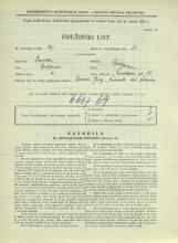 Popis prebivalstva 31. 3. 1931<br />Ljubljana<br />Černetova ulica 29<br />Population census 31 March 1931