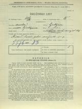 Popis prebivalstva 31. 3. 1931<br />Ljubljana<br />Cesta dveh cesarjev 105<br />Population census 31 March 1931