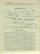 Popis prebivalstva 31. 3. 1931<br />Ljubljana<br />Cojzova cesta 9<br />Population census 31 March 1931