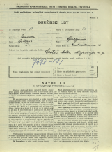 Popis prebivalstva 31. 3. 1931<br />Ljubljana<br />Dalmatinova ulica 13<br />Population census 31 March 1931