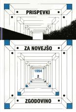 Prispevki za novejšo zgodovino, 1994, št. 2