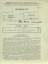 Popis prebivalstva 31. 3. 1931<br />Ljubljana<br />Dalmatinova ulica 7<br />Population census 31 March 1931