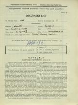 Popis prebivalstva 31. 3. 1931<br />Ljubljana<br />Dermotova ulica 24<br />Population census 31 March 1931