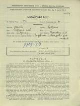 Popis prebivalstva 31. 3. 1931<br />Ljubljana<br />Dermotova ulica 28<br />Population census 31 March 1931