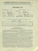Popis prebivalstva 31. 3. 1931<br />Ljubljana<br />Dermotova ulica 36<br />Population census 31 March 1931