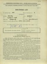 Popis prebivalstva 31. 3. 1931<br />Ljubljana<br />Dermotova ulica 4<br />Population census 31 March 1931