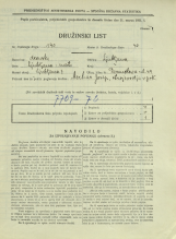 Popis prebivalstva 31. 3. 1931<br />Ljubljana<br />Dermotova ulica 44<br />Population census 31 March 1931