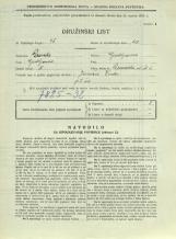 Popis prebivalstva 31. 3. 1931<br />Ljubljana<br />Devinska ulica 6<br />Population census 31 March 1931