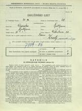 Popis prebivalstva 31. 3. 1931<br />Ljubljana<br />Dobrilova ulica 22<br />Population census 31 March 1931