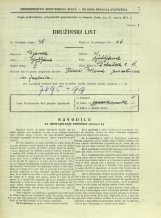 Popis prebivalstva 31. 3. 1931<br />Ljubljana<br />Dobrilova ulica 6<br />Population census 31 March 1931