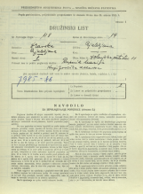 Popis prebivalstva 31. 3. 1931<br />Ljubljana<br />Dolenjska cesta 11<br />Population census 31 March 1931