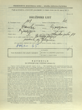 Popis prebivalstva 31. 3. 1931<br />Ljubljana<br />Dolenjska cesta 14<br />Population census 31 March 1931